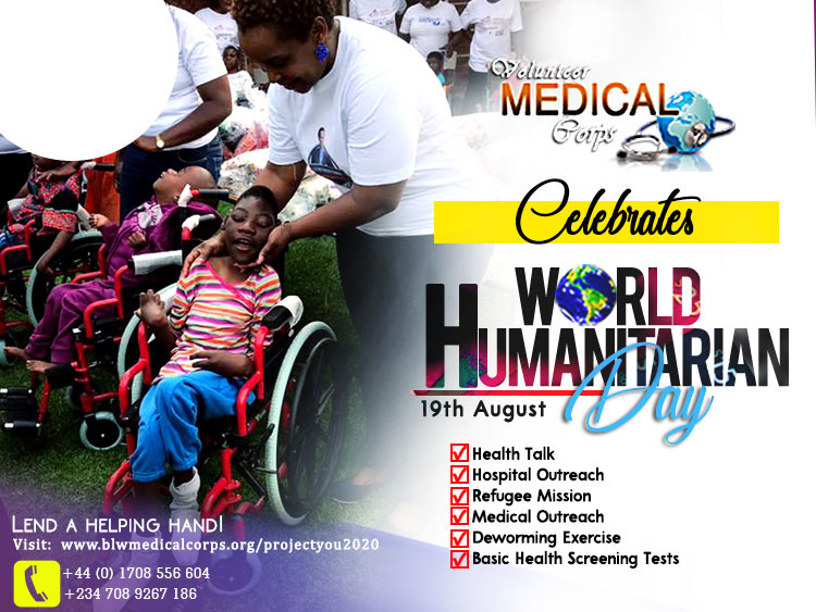 WORLD HUMANITARIAN DAY  COMES UP ON AUGUST 19TH